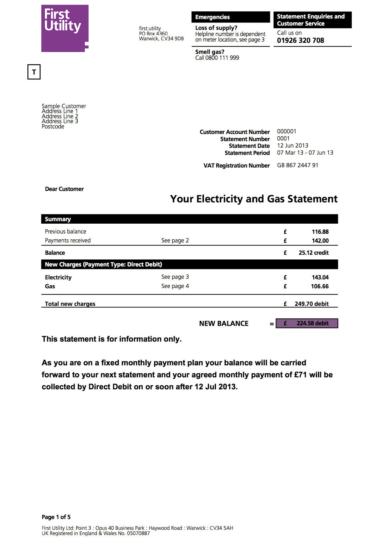understanding your home energy bill first utility