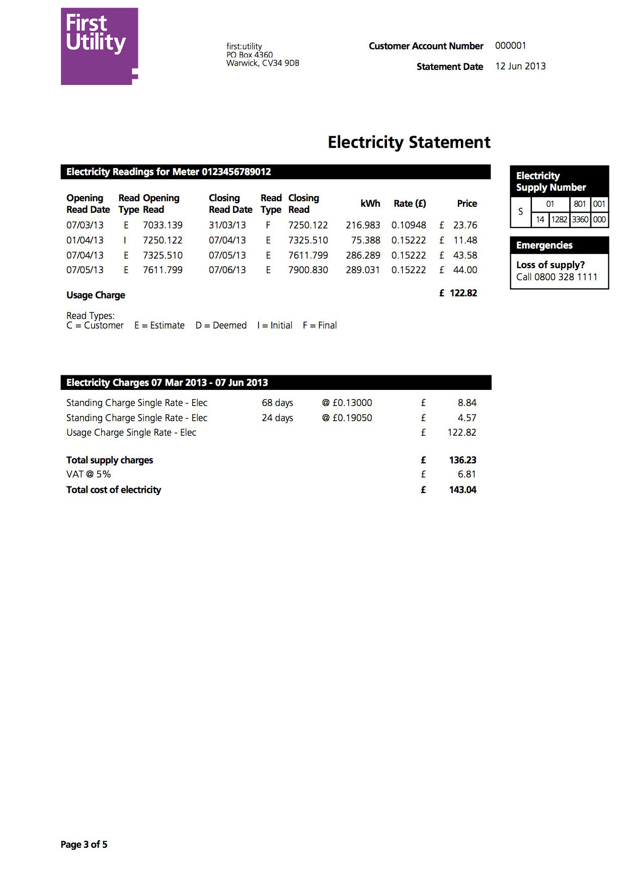 understanding your home energy bill first utility frequently asked questions