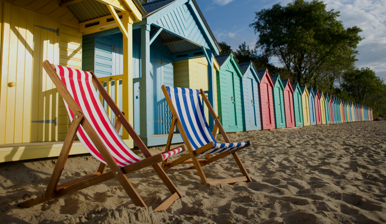 A British beach staycation
