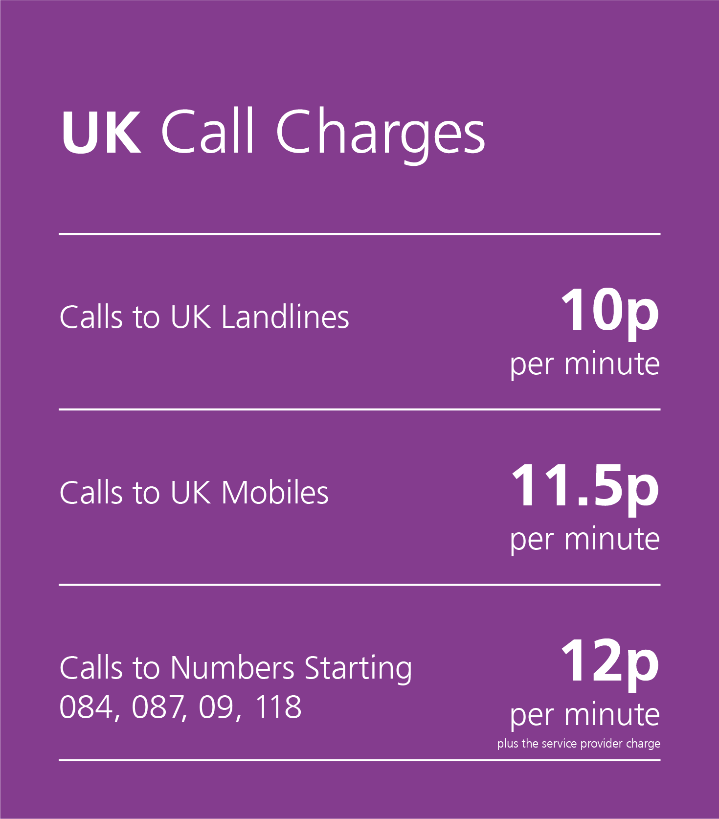 No matter how you use the phone, we have a call packages to suit your needs