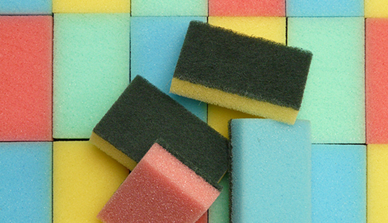 Sponges for cleaning