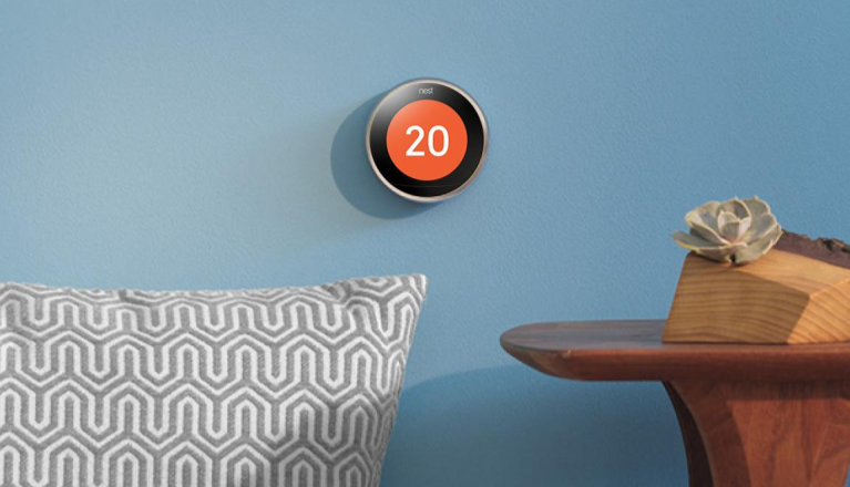 Smart home with Nest thermostat